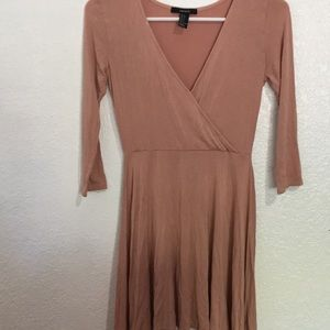 Surplice Fit and Flare Dress